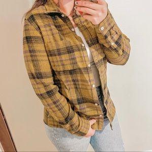 The North Face Plaid Cotton Button Down Shirt Sz L